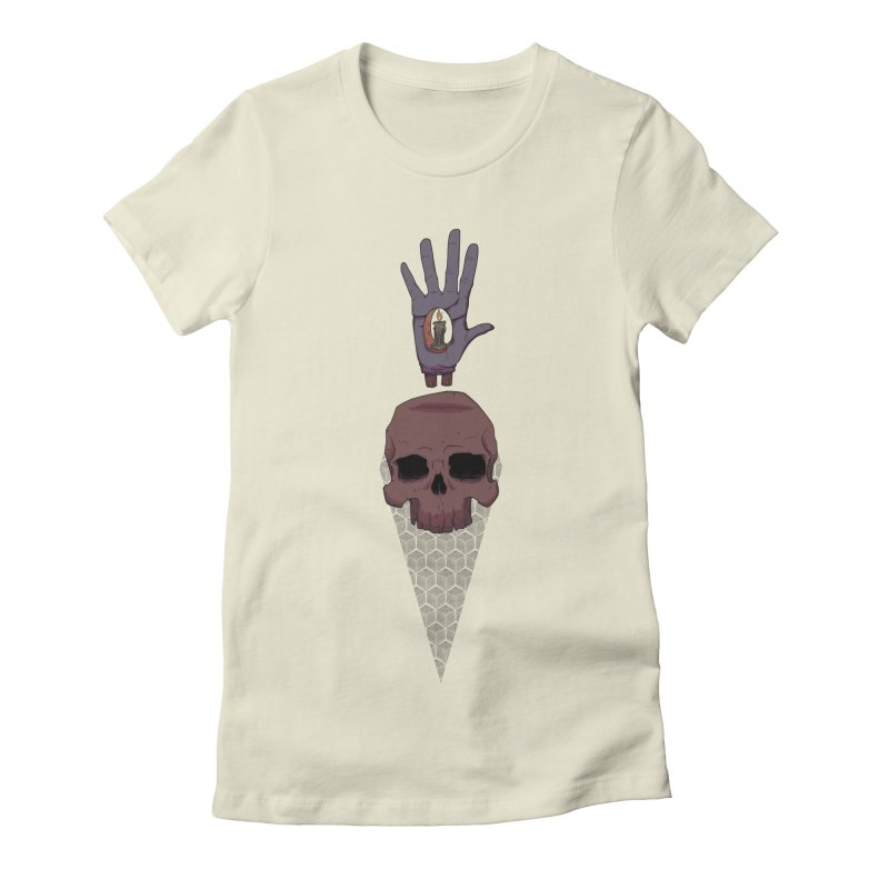 Skulls Inner Light Women's Fitted T-Shirt by Baloney's Artist Shop