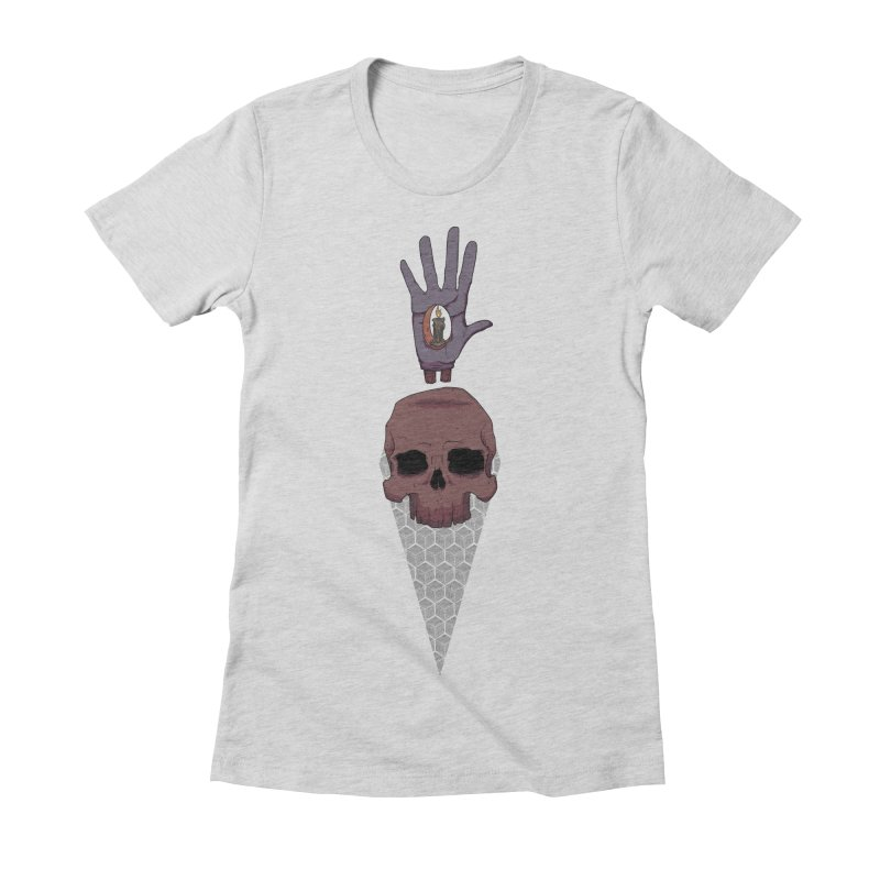 Skulls Inner Light Women's Fitted T-Shirt by Baloney's Artist Shop