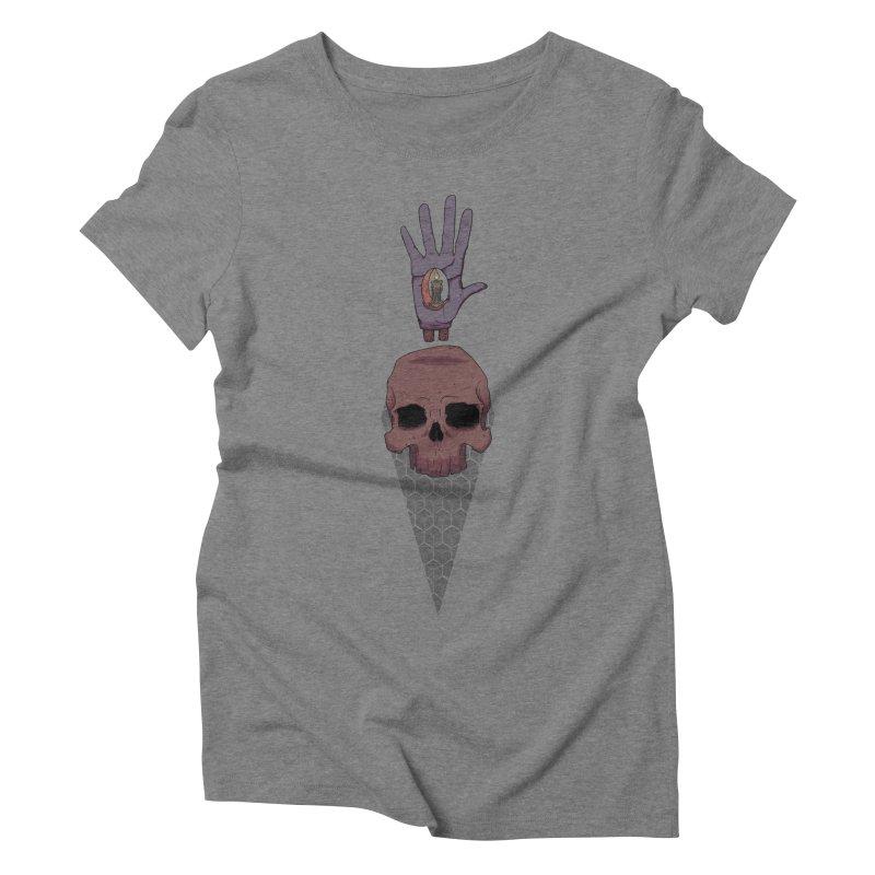 Skulls Inner Light Women's Triblend T-shirt by Baloney's Artist Shop