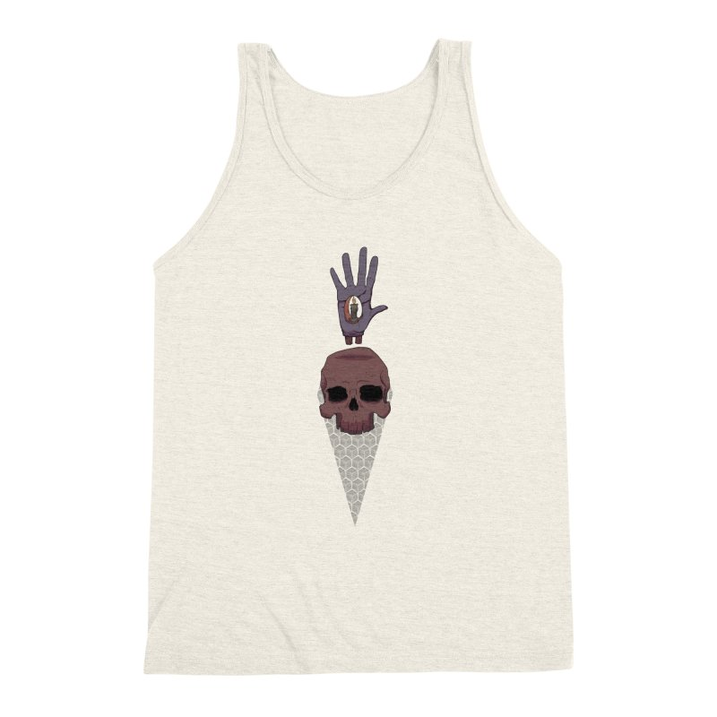 Skulls Inner Light Men's Triblend Tank by Baloney's Artist Shop
