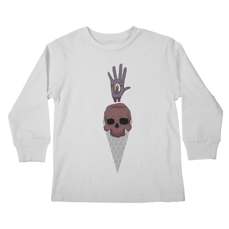Skulls Inner Light Kids Longsleeve T-Shirt by Baloney's Artist Shop