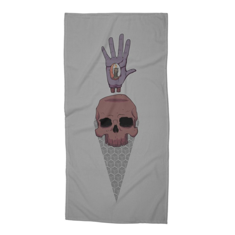 Skulls Inner Light Accessories Beach Towel by Baloney's Artist Shop