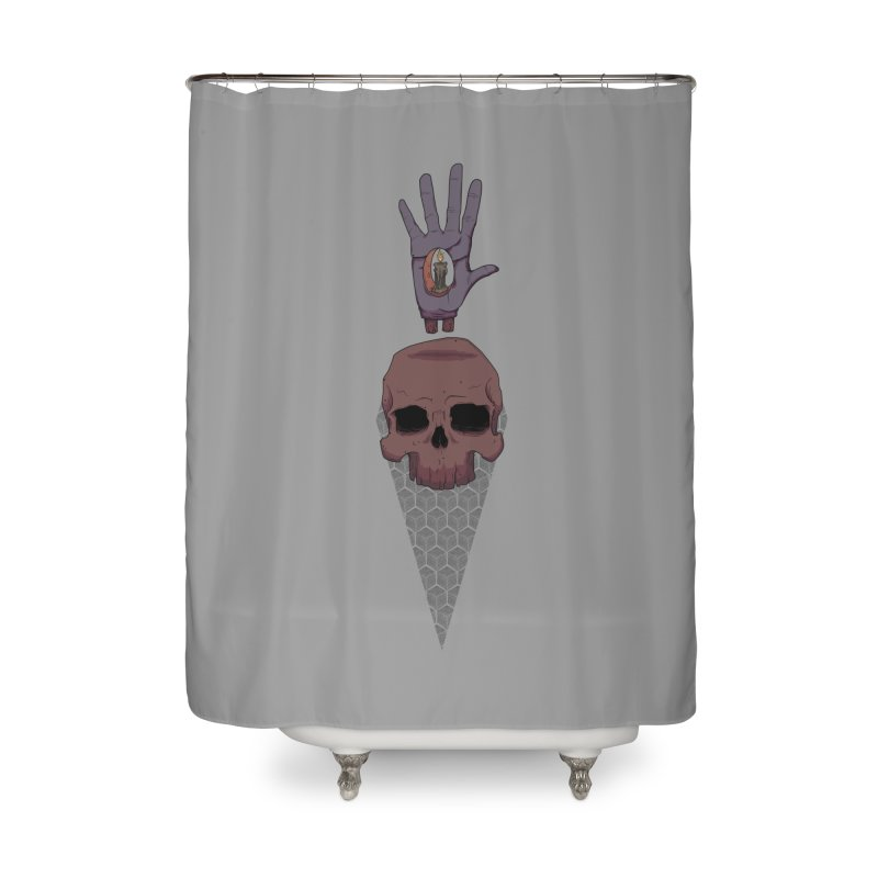 Skulls Inner Light Home Shower Curtain by Baloney's Artist Shop