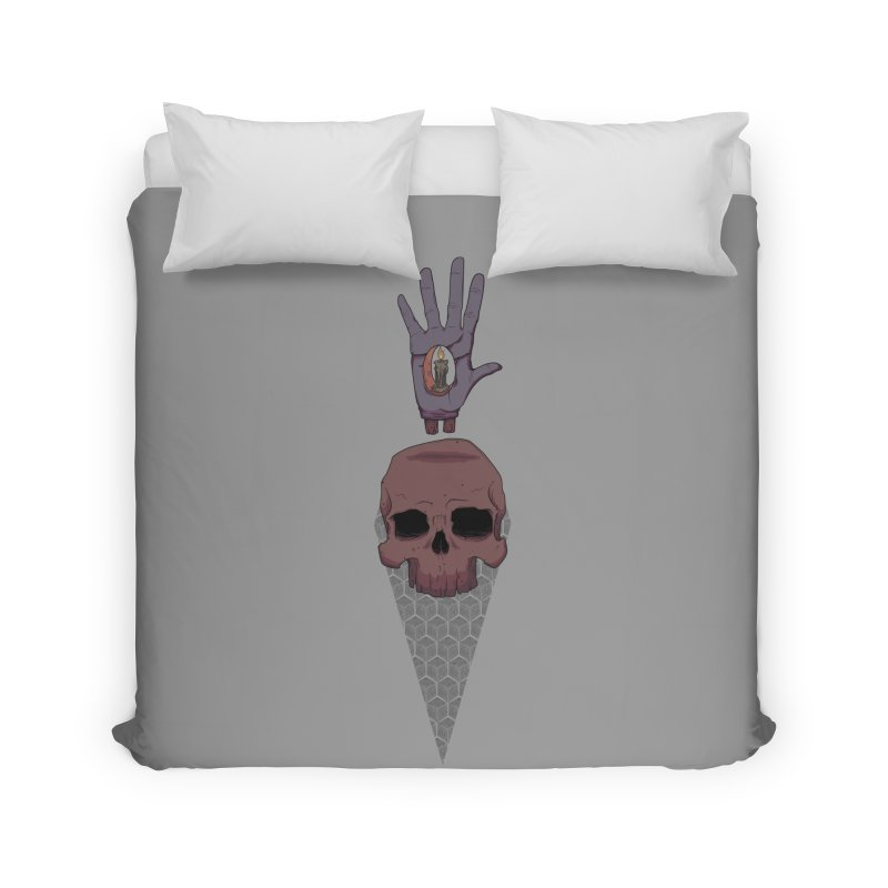 Skulls Inner Light Home Duvet by Baloney's Artist Shop