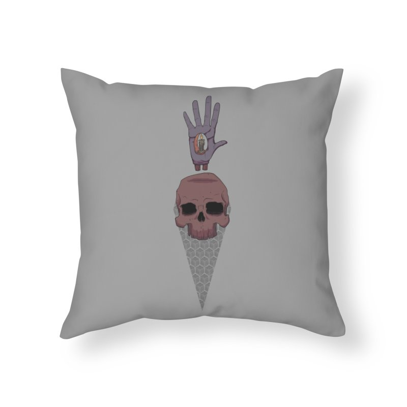 Skulls Inner Light Home Throw Pillow by Baloney's Artist Shop