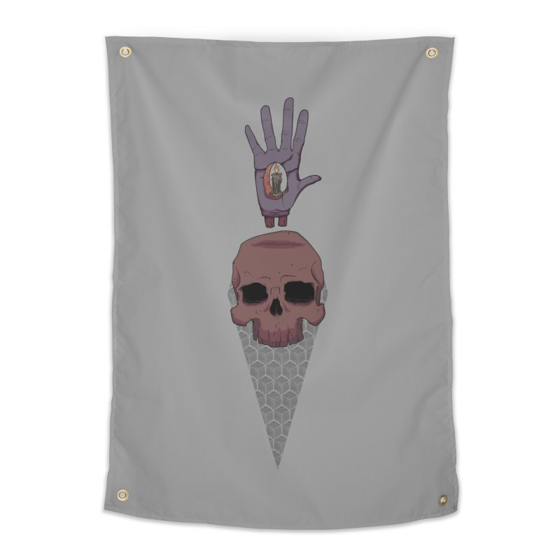 Skulls Inner Light Home Tapestry by Baloney's Artist Shop