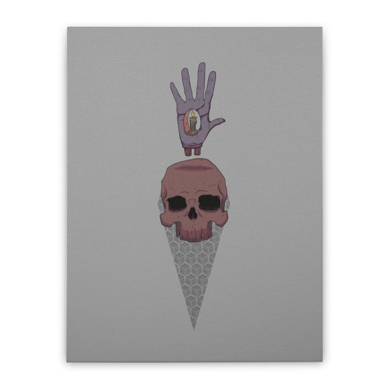 Skulls Inner Light Home Stretched Canvas by Baloney's Artist Shop