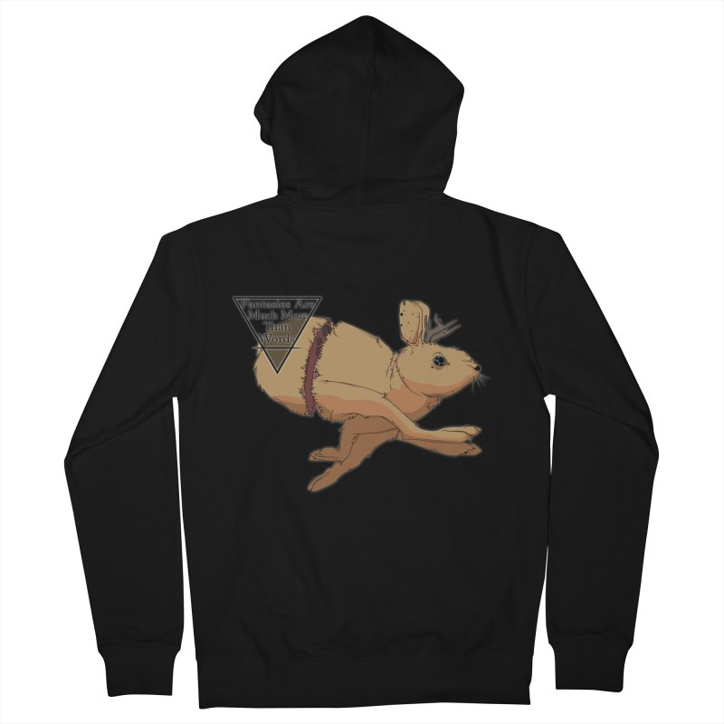Jackalope Fantasy Women's Zip-Up Hoody by Baloney's Artist Shop