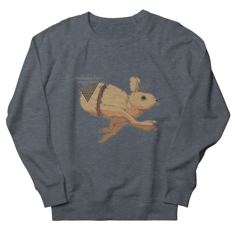 Jackalope Fantasy Women's French Terry Sweatshirt by Baloney's Artist Shop