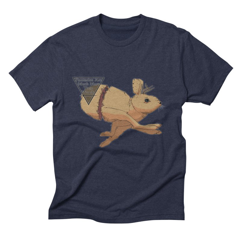 Jackalope Fantasy Men's Triblend T-Shirt by Baloney's Artist Shop
