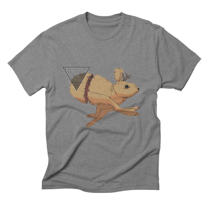 Jackalope Fantasy Men's Triblend T-shirt by Baloney's Artist Shop