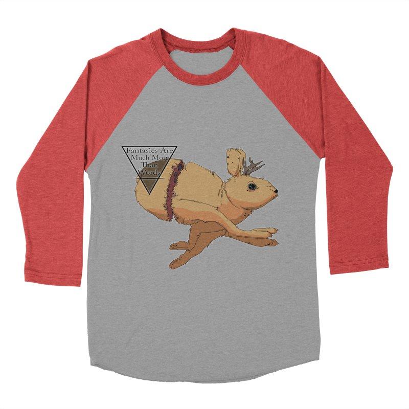 Jackalope Fantasy Women's Baseball Triblend T-Shirt by Baloney's Artist Shop