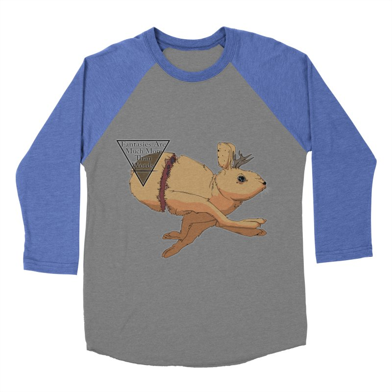 Jackalope Fantasy Men's Baseball Triblend T-Shirt by Baloney's Artist Shop