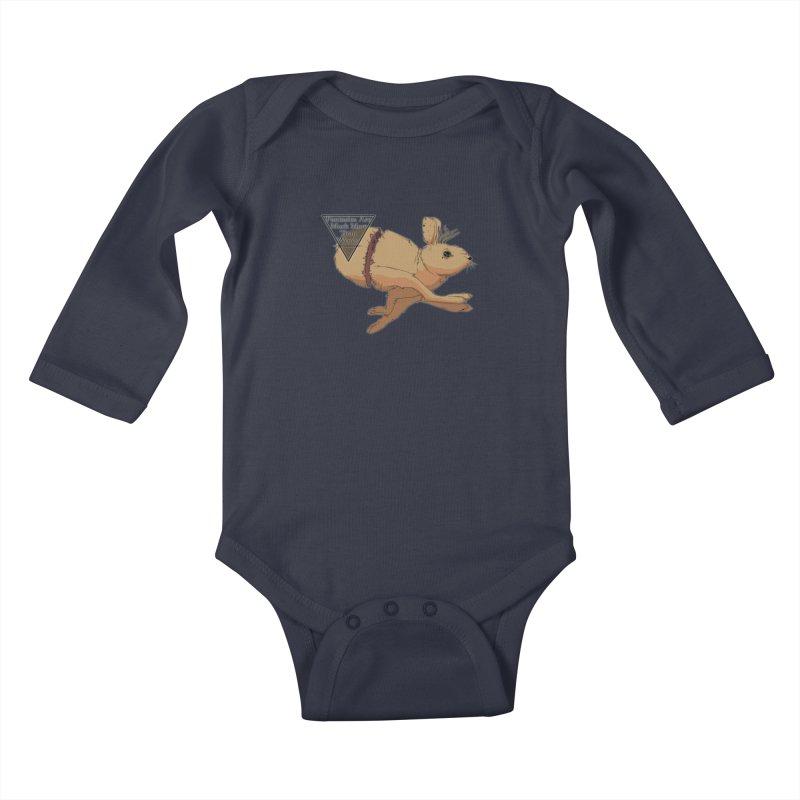 Jackalope Fantasy Kids Baby Longsleeve Bodysuit by Baloney's Artist Shop