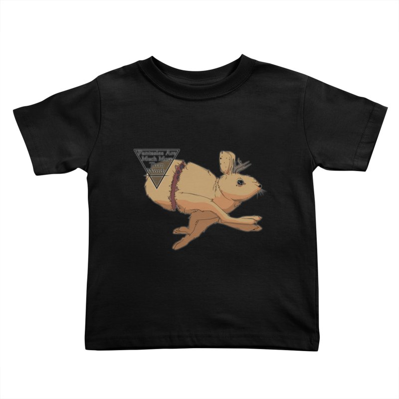 Jackalope Fantasy Kids Toddler T-Shirt by Baloney's Artist Shop