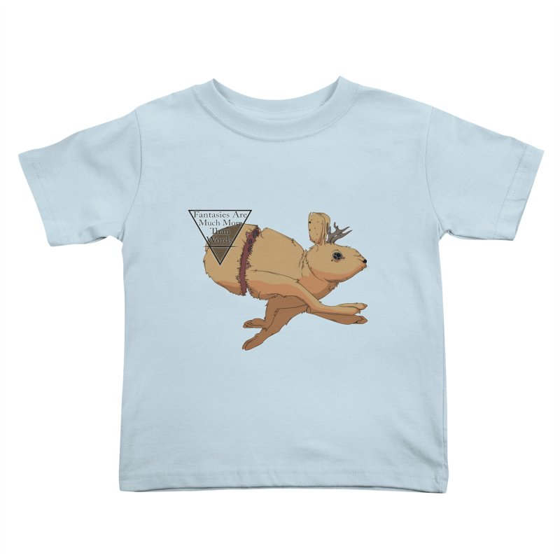 Jackalope Fantasy Kids Toddler T-Shirt by Baloney's Artist Shop