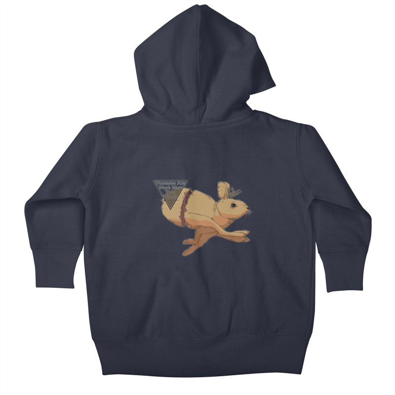 Jackalope Fantasy Kids Baby Zip-Up Hoody by Baloney's Artist Shop