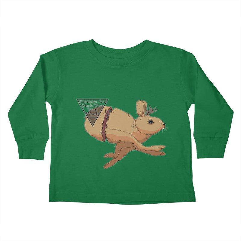 Jackalope Fantasy Kids Toddler Longsleeve T-Shirt by Baloney's Artist Shop