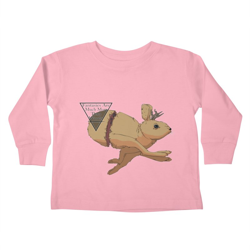 Jackalope Fantasy Kids Toddler Longsleeve T-Shirt by Baloney's Artist Shop