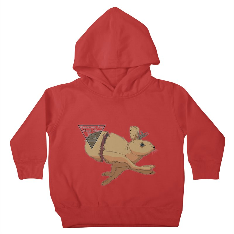 Jackalope Fantasy Kids Toddler Pullover Hoody by Baloney's Artist Shop