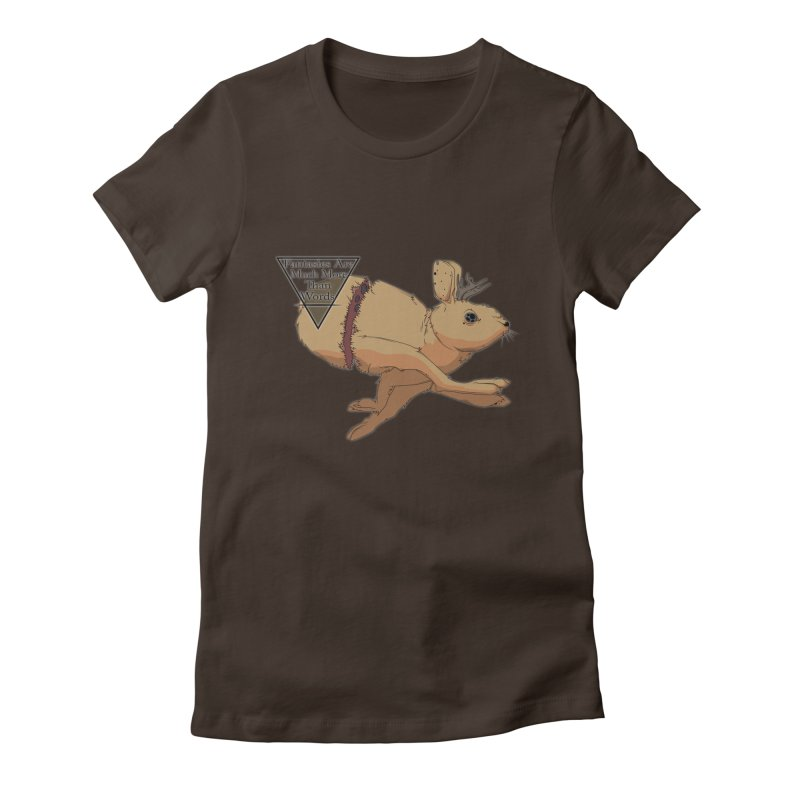 Jackalope Fantasy Women's Fitted T-Shirt by Baloney's Artist Shop