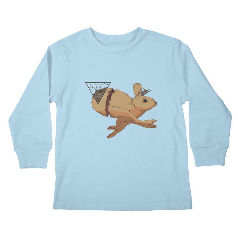 Jackalope Fantasy Kids Longsleeve T-Shirt by Baloney's Artist Shop