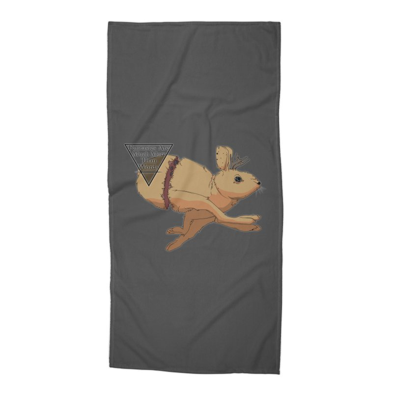 Jackalope Fantasy Accessories Beach Towel by Baloney's Artist Shop