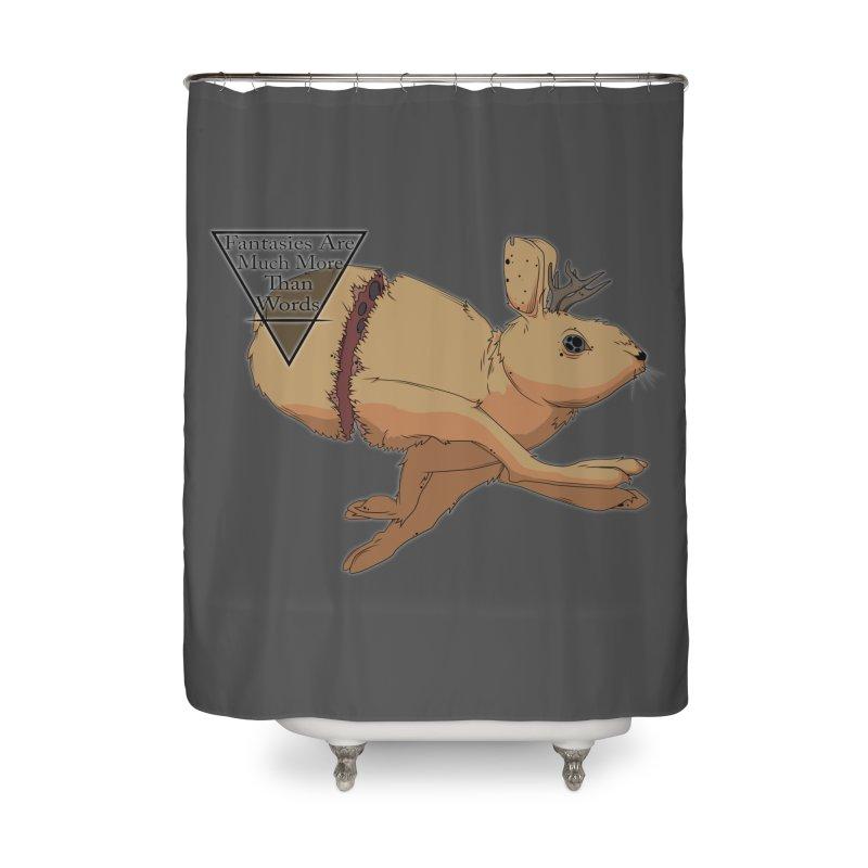 Jackalope Fantasy Home Shower Curtain by Baloney's Artist Shop