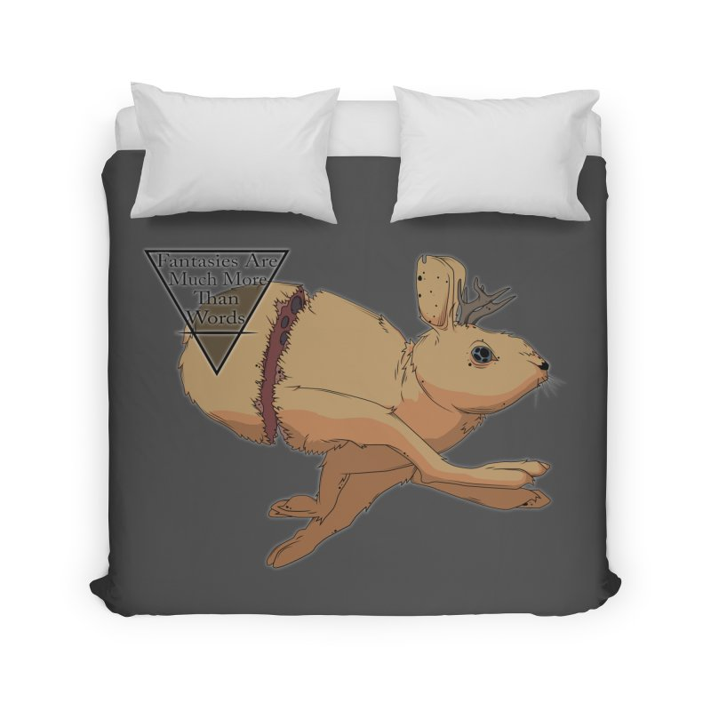 Jackalope Fantasy Home Duvet by Baloney's Artist Shop