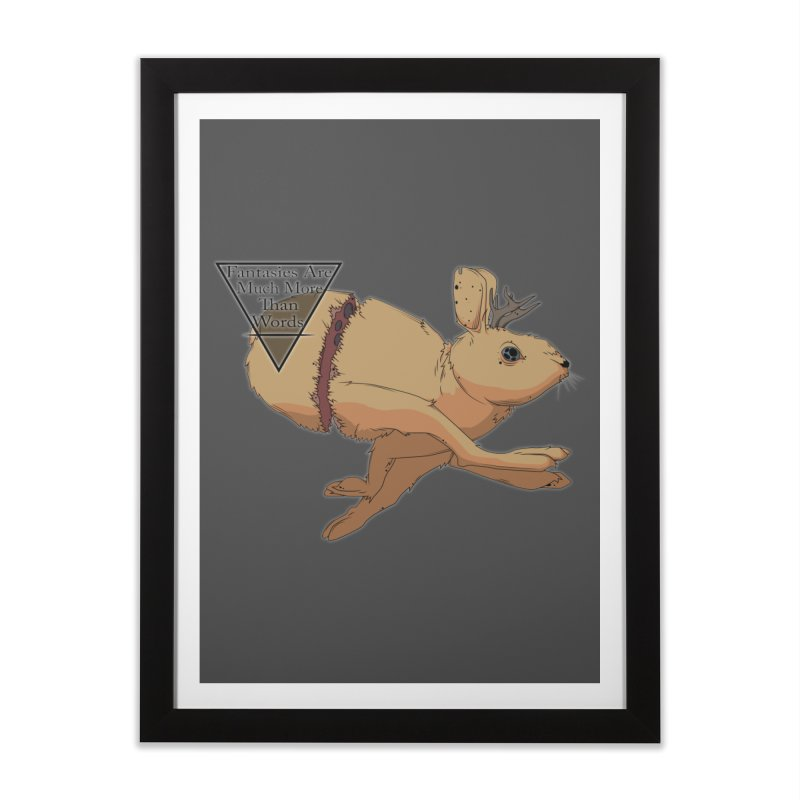 Jackalope Fantasy Home Framed Fine Art Print by Baloney's Artist Shop