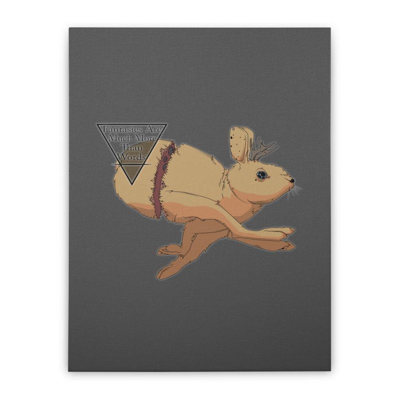 Jackalope Fantasy Home Stretched Canvas by Baloney's Artist Shop