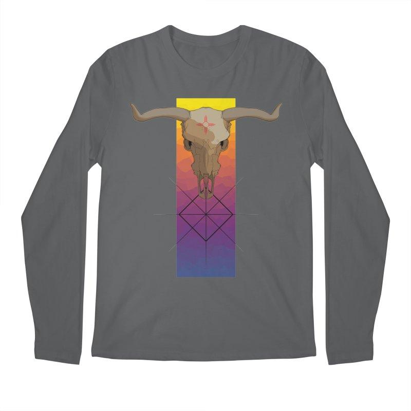 Skull Sunrise Men's Longsleeve T-Shirt by Baloney's Artist Shop