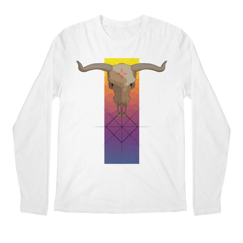 Skull Sunrise Men's Regular Longsleeve T-Shirt by Baloney's Artist Shop