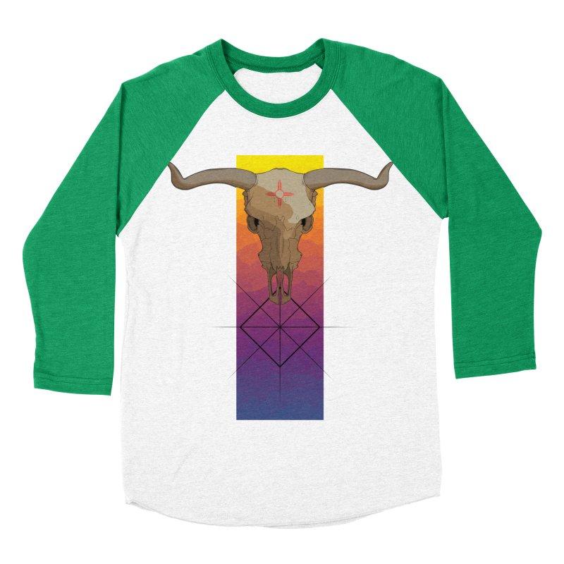 Skull Sunrise Men's Baseball Triblend T-Shirt by Baloney's Artist Shop