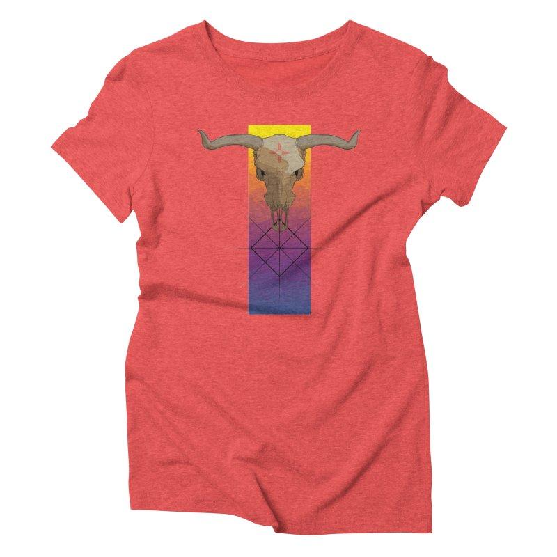 Skull Sunrise Women's Triblend T-shirt by Baloney's Artist Shop