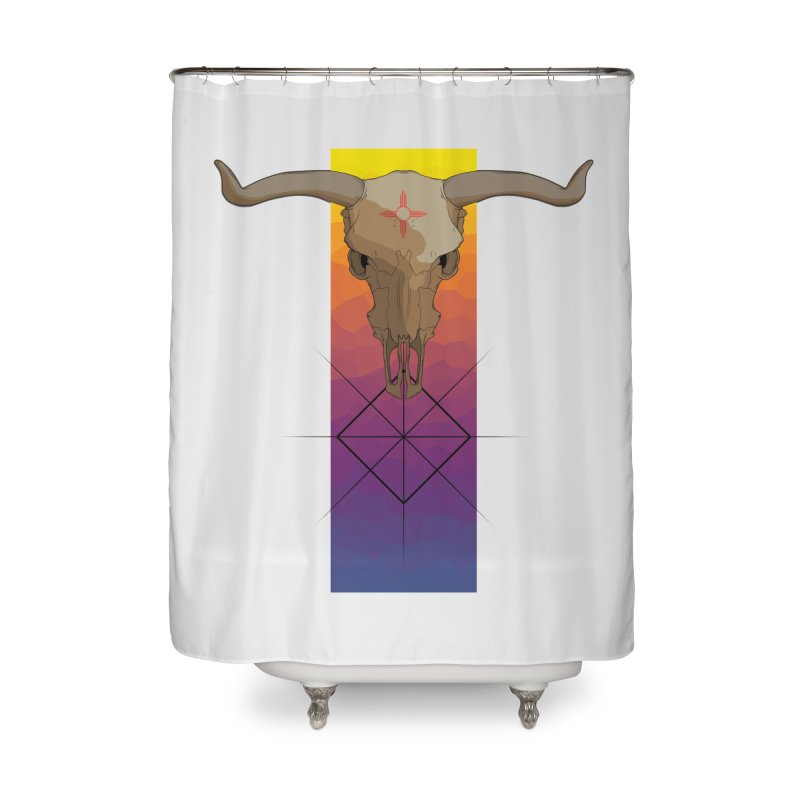 Skull Sunrise Home Shower Curtain by Baloney's Artist Shop