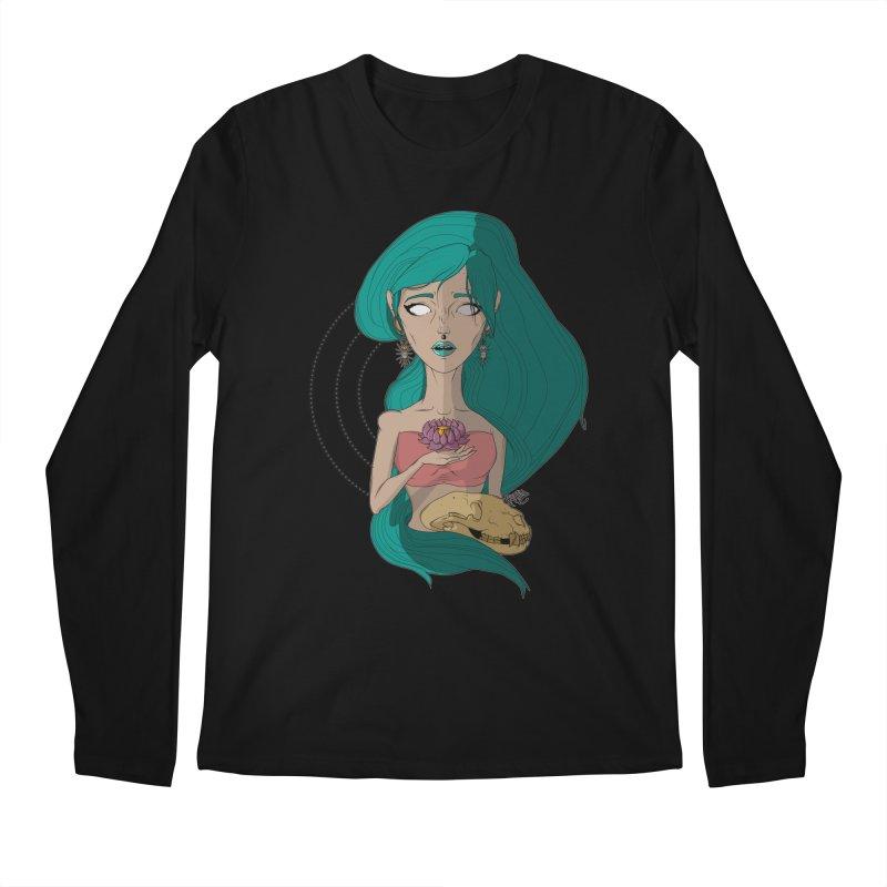 Lotus Men's Regular Longsleeve T-Shirt by Baloney's Artist Shop