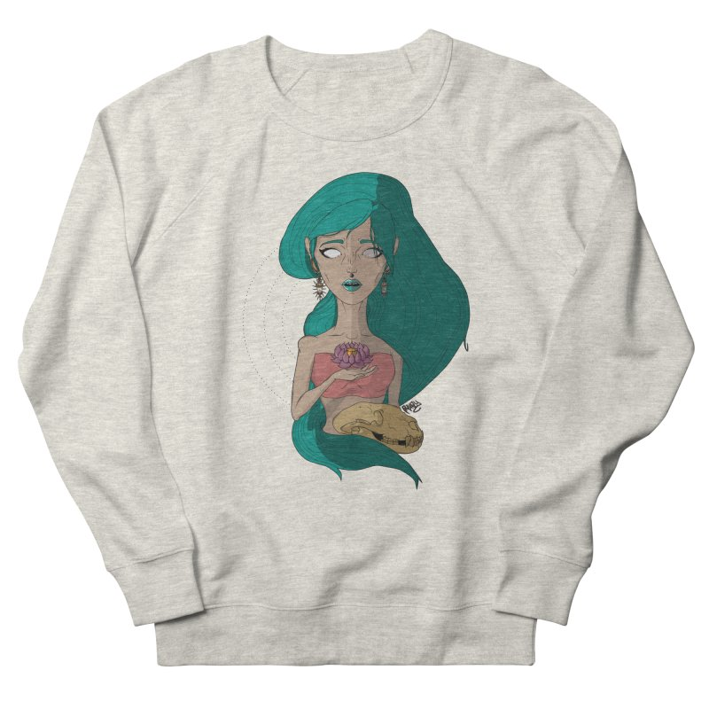 Lotus Women's French Terry Sweatshirt by Baloney's Artist Shop