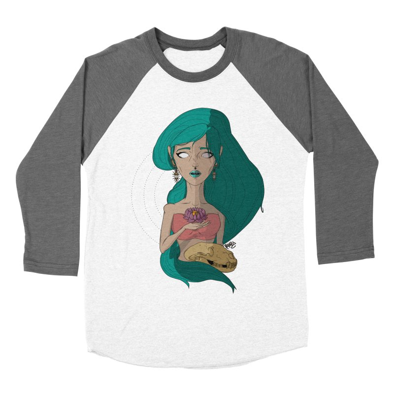 Lotus Women's Baseball Triblend T-Shirt by Baloney's Artist Shop