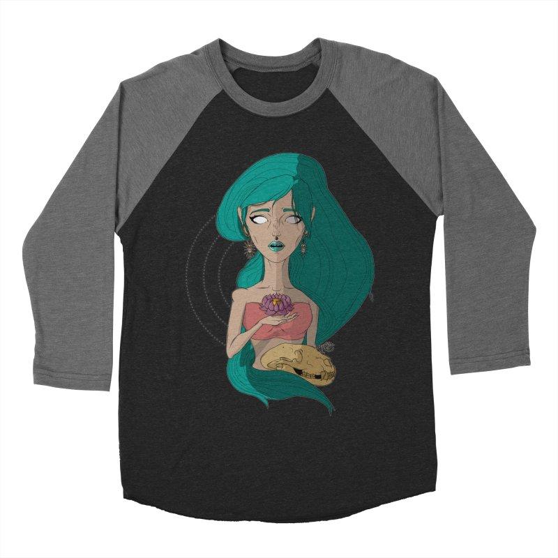 Lotus Men's Baseball Triblend T-Shirt by Baloney's Artist Shop
