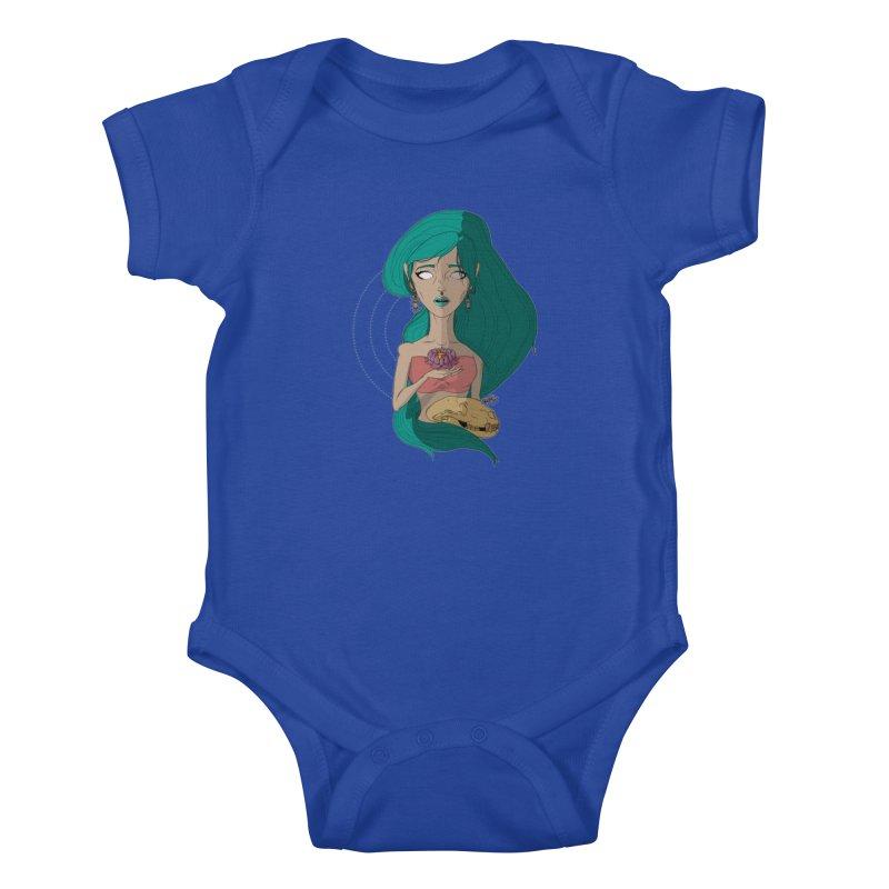 Lotus Kids Baby Bodysuit by Baloney's Artist Shop