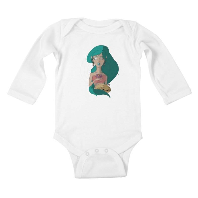 Lotus Kids Baby Longsleeve Bodysuit by Baloney's Artist Shop