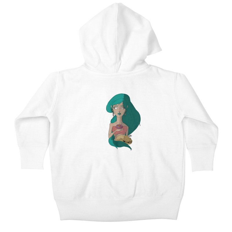 Lotus Kids Baby Zip-Up Hoody by Baloney's Artist Shop
