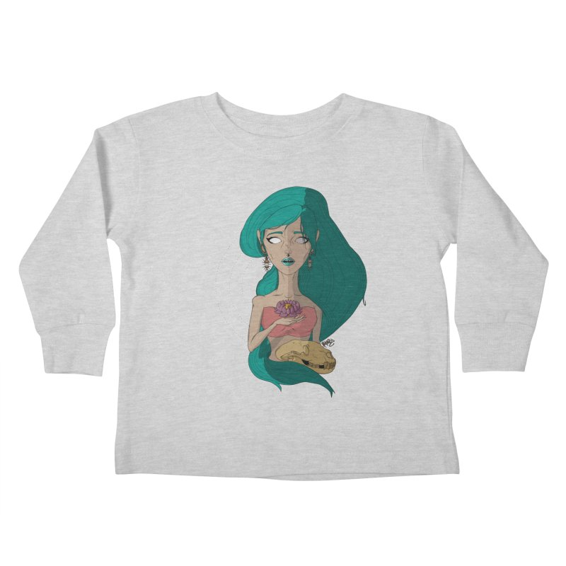 Lotus Kids Toddler Longsleeve T-Shirt by Baloney's Artist Shop