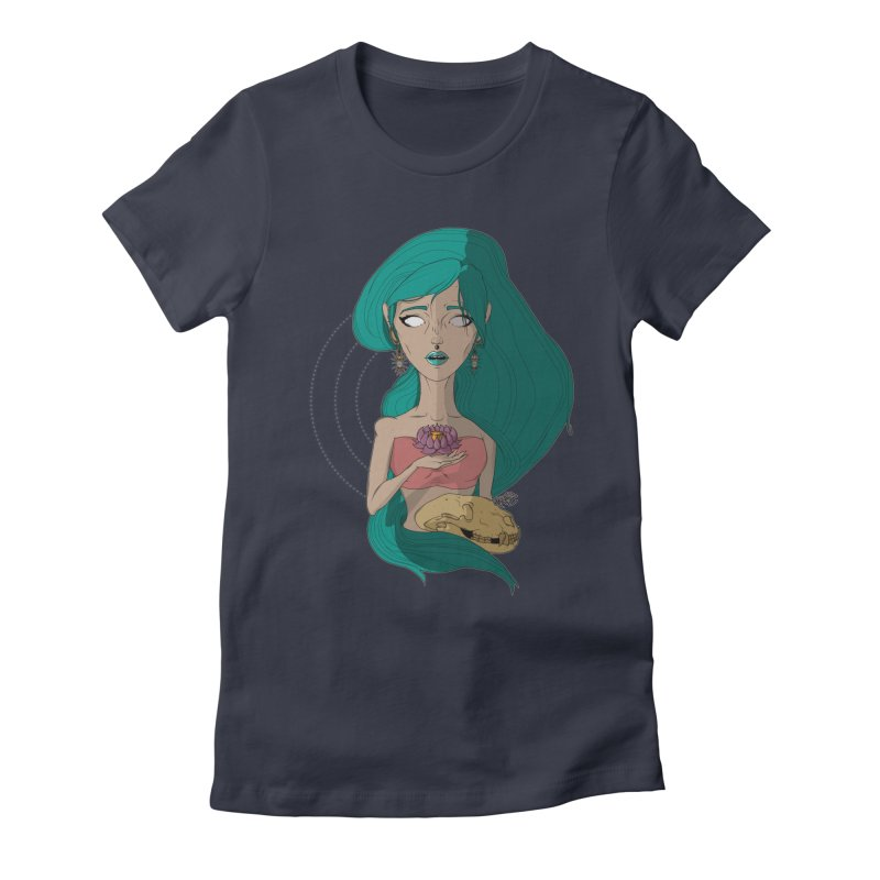 Lotus Women's Fitted T-Shirt by Baloney's Artist Shop