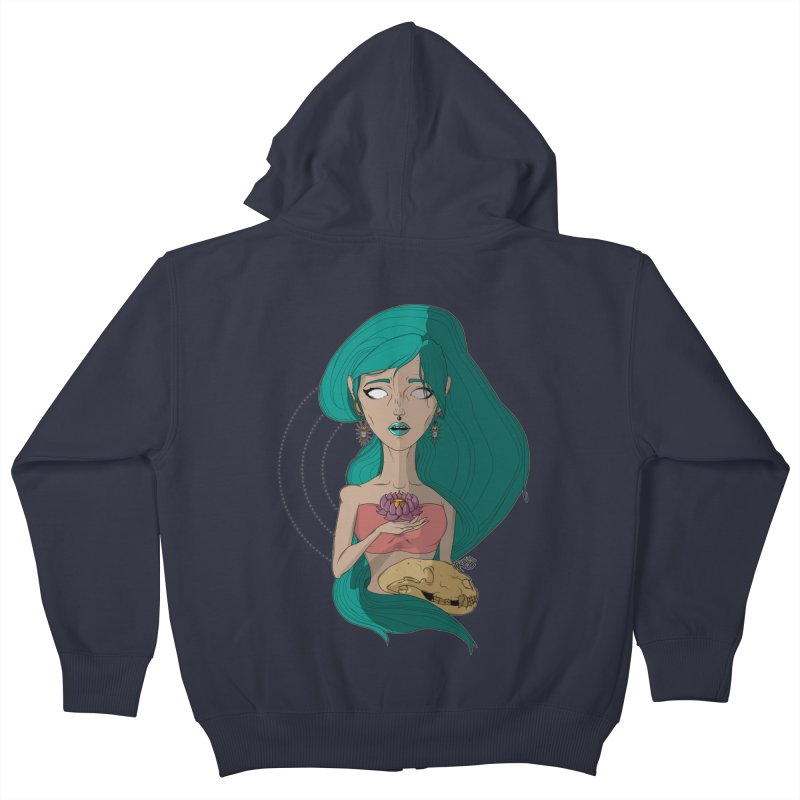 Lotus Kids Zip-Up Hoody by Baloney's Artist Shop