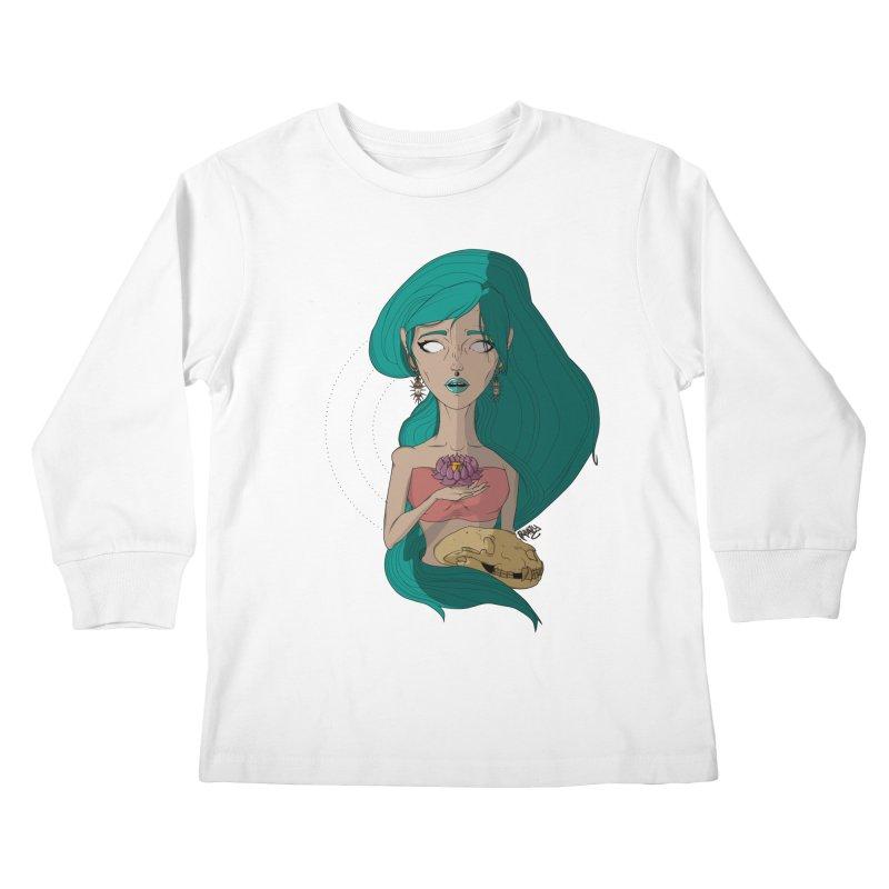 Lotus Kids Longsleeve T-Shirt by Baloney's Artist Shop