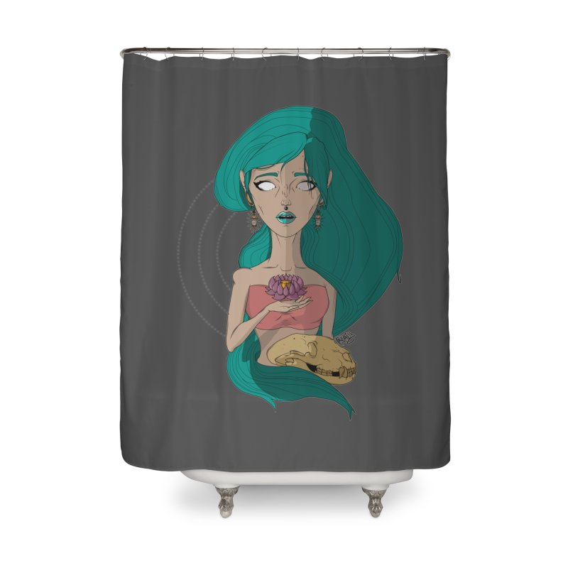 Lotus Home Shower Curtain by Baloney's Artist Shop