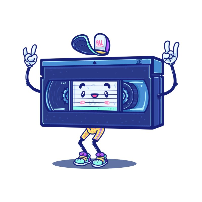 VHS PAL Kids T-Shirt by Bálooie's Artist Shop