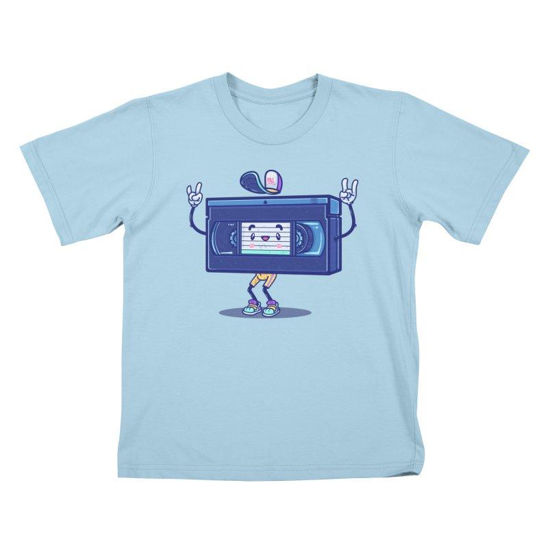VHS PAL Kids T-Shirt by Bálooie's Artist Shop